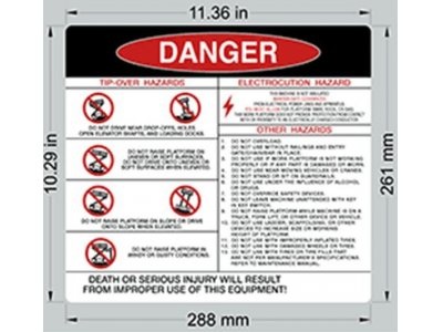 105672 SkyJack Danger Decal