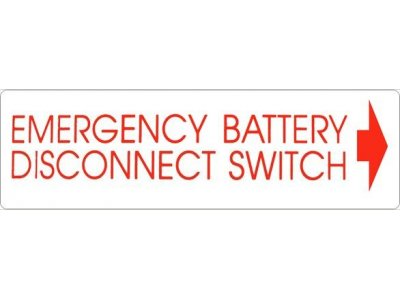 105959 SkyJack Battery Disconnect Switch Decal