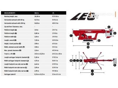 Подъемник паук Teupen LEO 30 - 30 м
