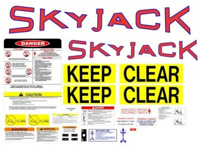 105298 SkyJack Decal Kit Sj2